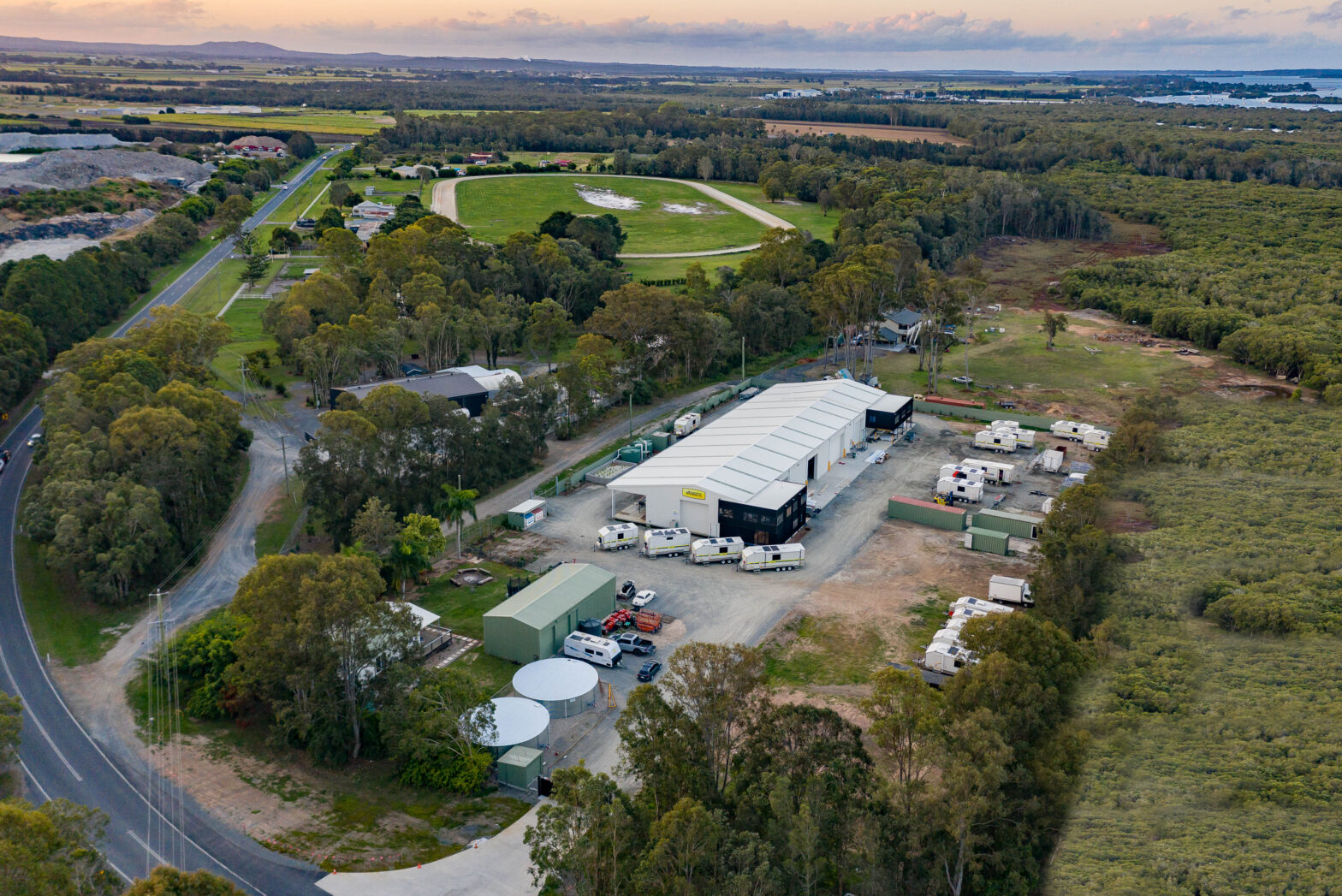A great view of our new state of the art factory in Jacobs Well between Brisbane and the Gold Coast!